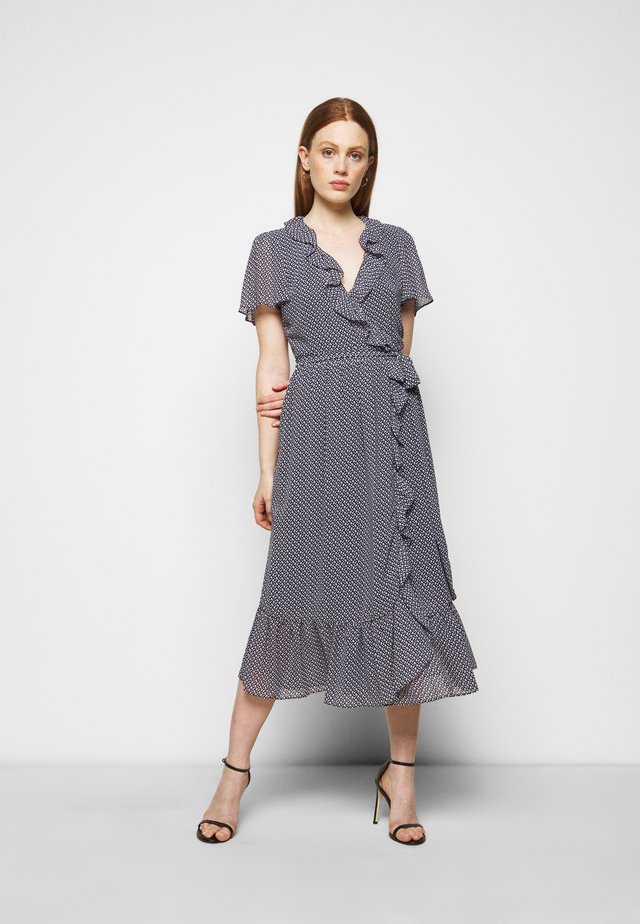 PRINTED MIDI DRESS - Sukienka letnia - blue