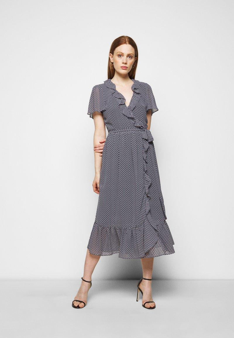 MICHAEL Michael Kors - PRINTED MIDI DRESS - Day dress - blue