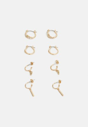 PCKELLY EARRINGS 4 PACK - Øreringe - gold-coloured