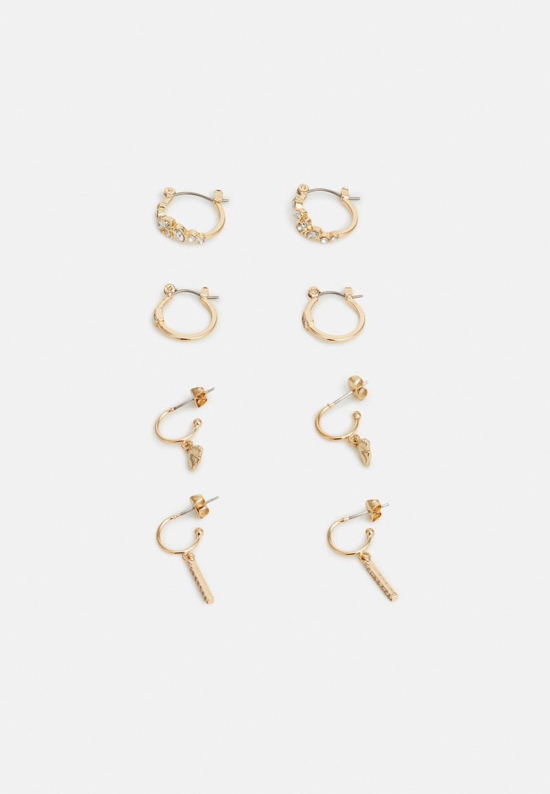 Pieces - PCKELLY EARRINGS 4 PACK - Øreringe - gold-coloured