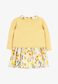 Next - OCHRE PROM DRESS AND CARDIGAN SET (0MTHS-2YRS) - Gilet - yellow - 1