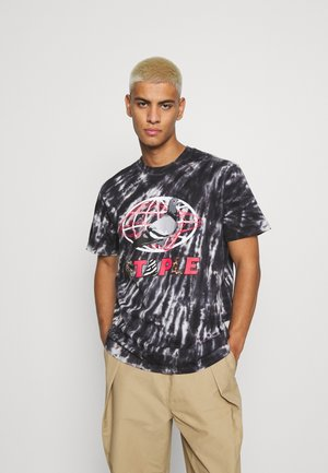 TIE DYE GLOBE LOGO TEE UNISEX - Print T-shirt - black