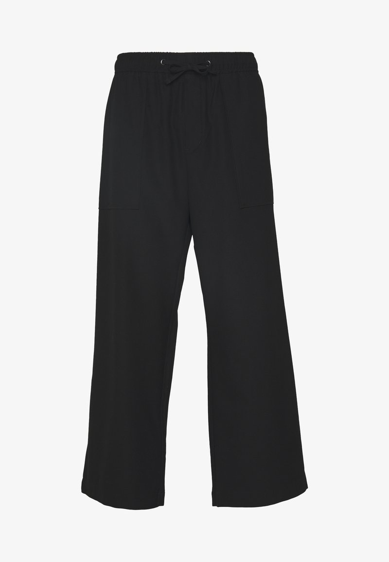 Weekday - GALE CROPPED TROUSERS - Kalhoty - black