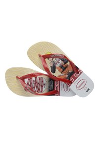 Havaianas - TOP NARUTO - Pool shoes - white, red - 3