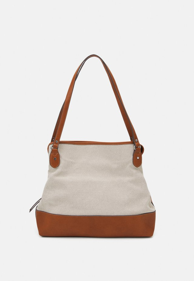INES - Bolso shopping - mixed beige