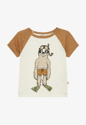 Print T-shirt - bone brown