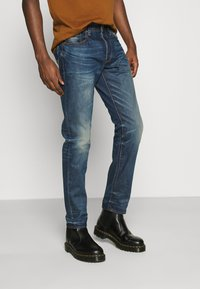 G-Star - 3301 TAPERED - Zúžené džíny - hydrite denim - dk aged antic - 0