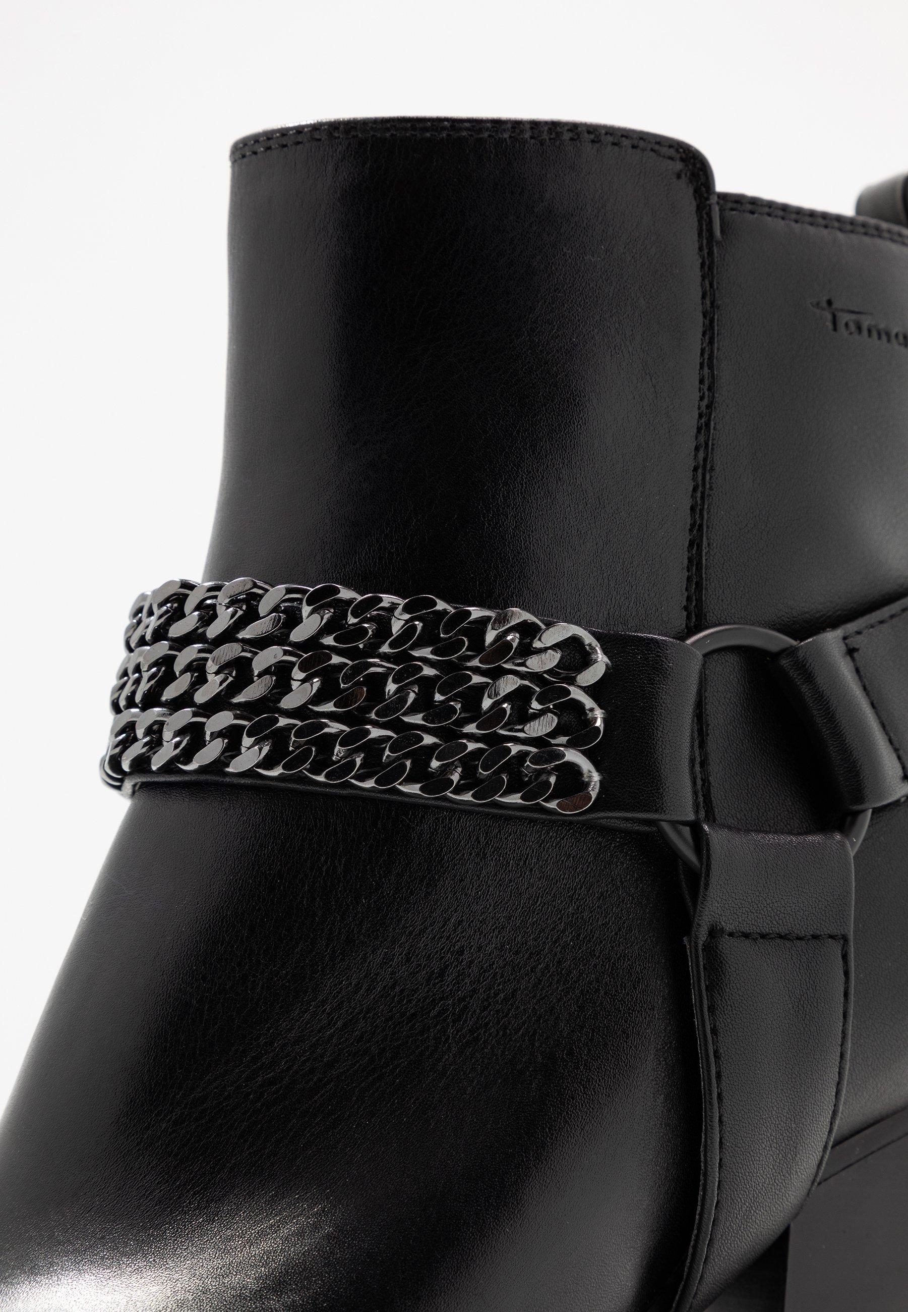 bottines noire chaine tamaris