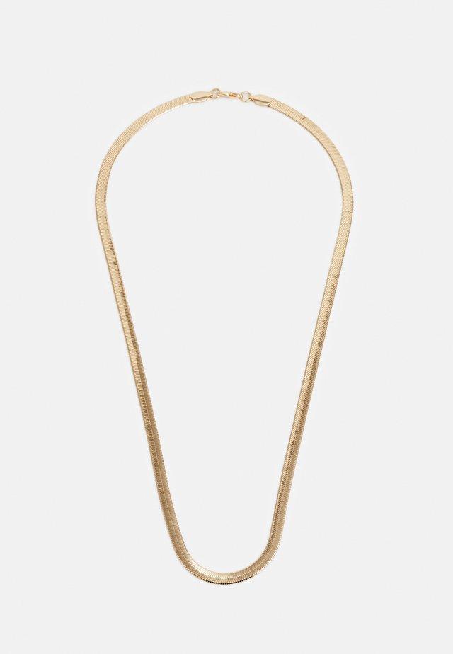 FLAT CHAIN NECKLACE - Náhrdelník - gold-coloured