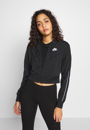 HOODIE - Training jacket - black/white