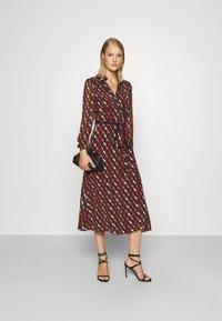 Diane von Furstenberg - BROOKE DRESS - Cocktail dress / Party dress - wood brown - 1