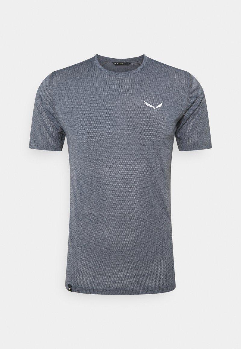 Salewa - PEDROC DRY - T-shirt med print - navy blazer melange