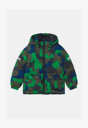 HEAVY PADDED - Winter jacket - dark khaki green