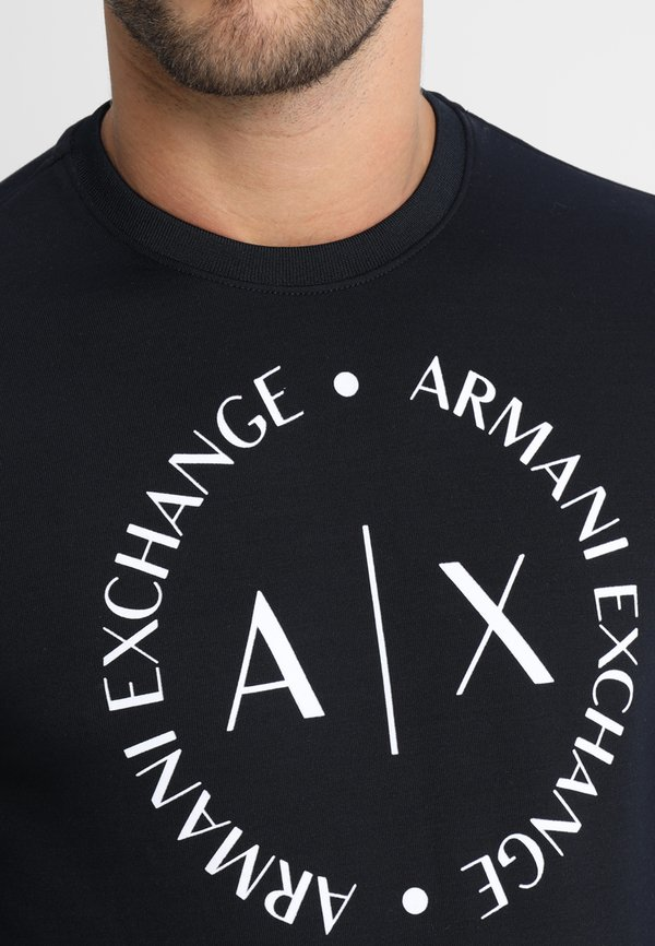 Armani Exchange Bluza - navy/granatowy Odzież Męska FMQM