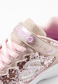 Skechers - GLIMMER KICKS - Trainers - gold rock glitter/light pink - 5