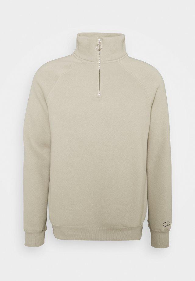 LIGHT FUNNEL NECK CREW - Sweatshirt - stone light