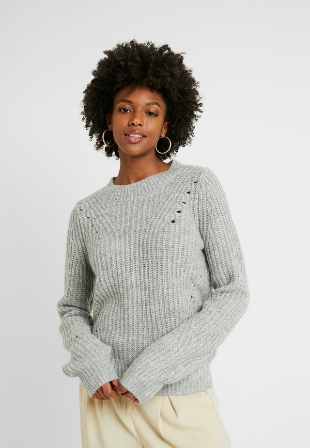 BRUSHED POINTELLE - Jumper - light heather grey