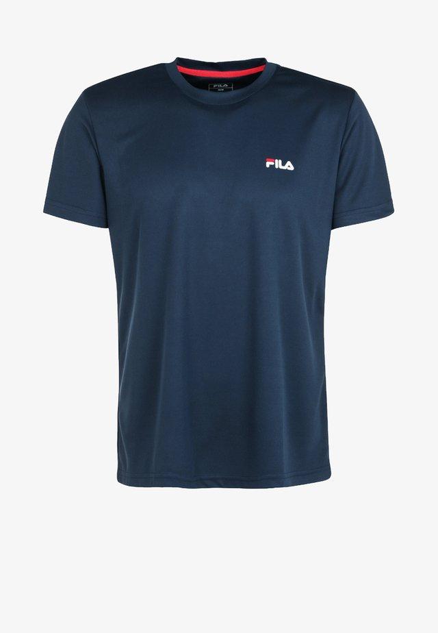 LOGO SMALL - Basic T-shirt - blue peacot