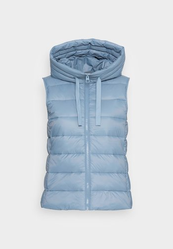 RECYCLED VEST FIX HOOD STAND UP COLL - Smanicato - fall sky