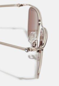 Mont Blanc - UNISEX - Sunglasses - silver-coloured/brown - 3