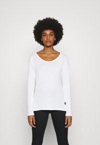 G-Star - CORE EYBEN SLIM U T WMN L\S - Long sleeved top - white - 0