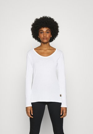 CORE EYBEN SLIM U LONG SLEEVE - Long sleeved top - white