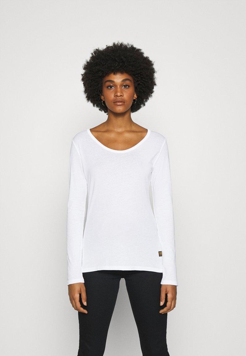 G-Star - CORE EYBEN SLIM U T WMN L\S - Long sleeved top - white