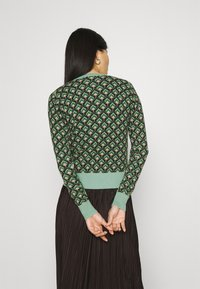 King Louie - CARDI ROUNDNECK EMPEROR - Kardigan - island green - 2