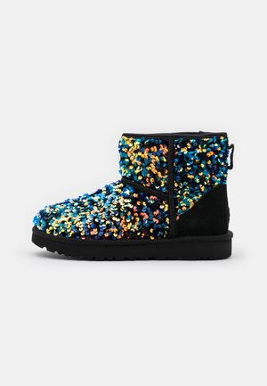 CLASSIC MINI STELLAR SEQUIN - Classic ankle boots - black