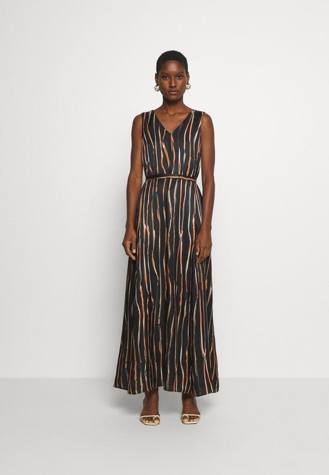 DRESS SLEEVELESS BELT - Maxi dress - multi/black