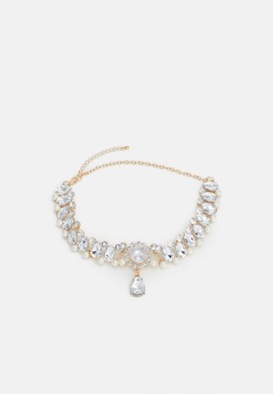 PCLEAH CHOKER NECKLACE - Halskæder - gold-coloured/clear