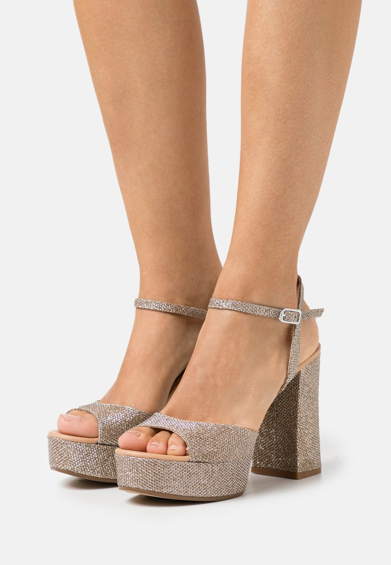Unisa - VEGARA - Platform sandals - mumm/sunta