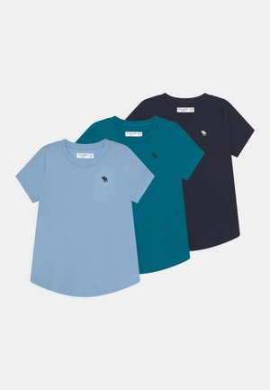 CORE CREW TEE 3 PACK - Camiseta básica - sky captain/powder blue/ocean depths