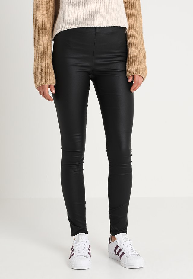 VICOMMIT COATED PLAIN - Leggings - black