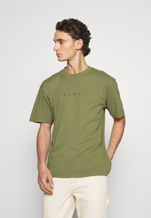 KATAKANA EMBROIDERY - T-shirt basique - martini olive
