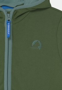 Finkid - JAAKKO UNISEX - Mikina na zip - bronze green/trellis - 2