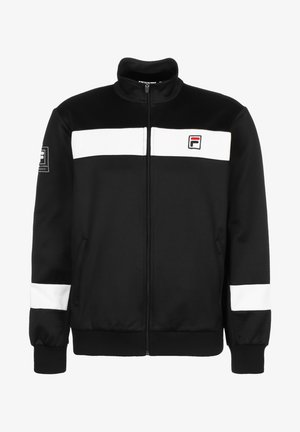 TAHIR  - Training jacket - black / blanc de blanc