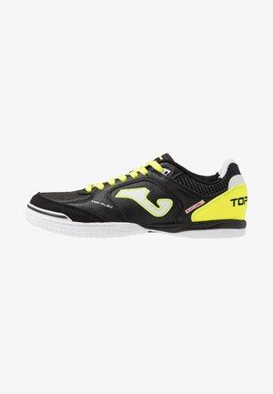 TOP FLEX - Indoor football boots - black/yellow