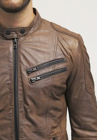 Freaky Nation - DAVIDSON - Leather jacket - wood - 4
