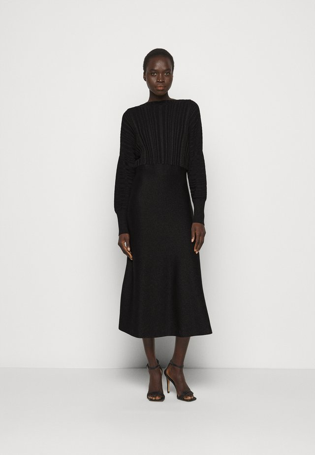 PROCIDA - Gebreide jurk - black