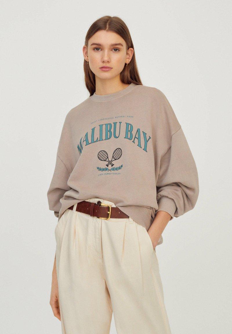 PULL&BEAR - Sweatshirts - beige