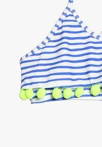 Sunuva - GIRLS POMPOM FRILL - Bikini - blue/white - 4