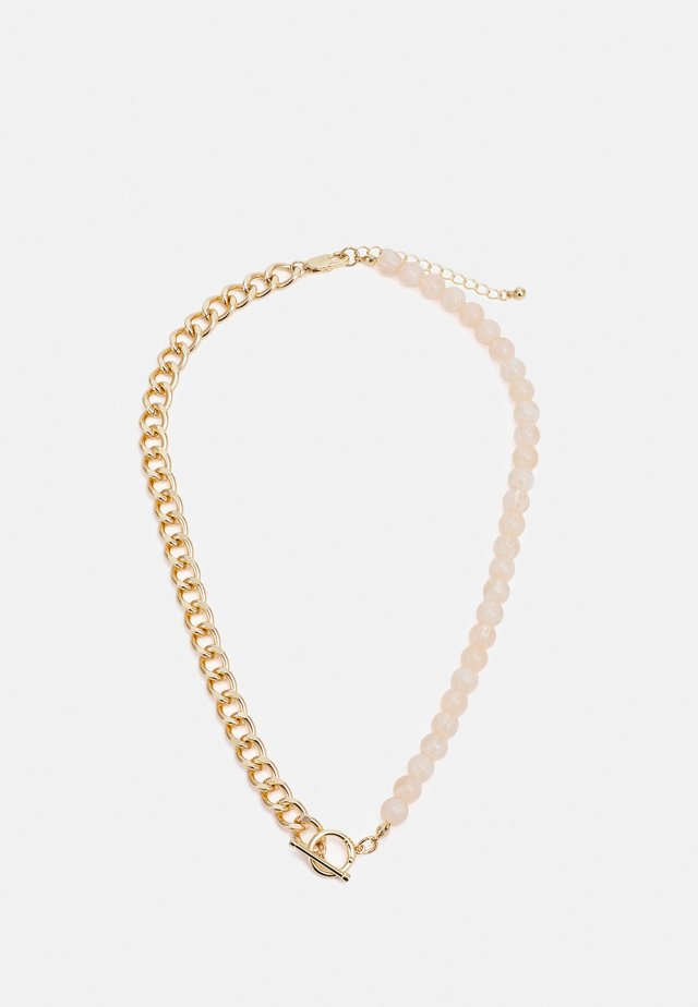 PCLEA NECKLACE - Collier - gold-coloured/pink