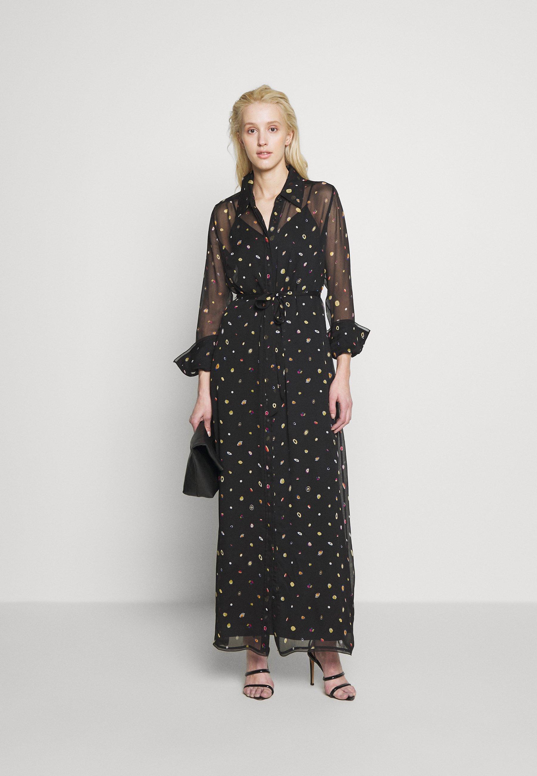 Diane von Furstenberg JEAN MICHEL - Robe longue - polka dot agate