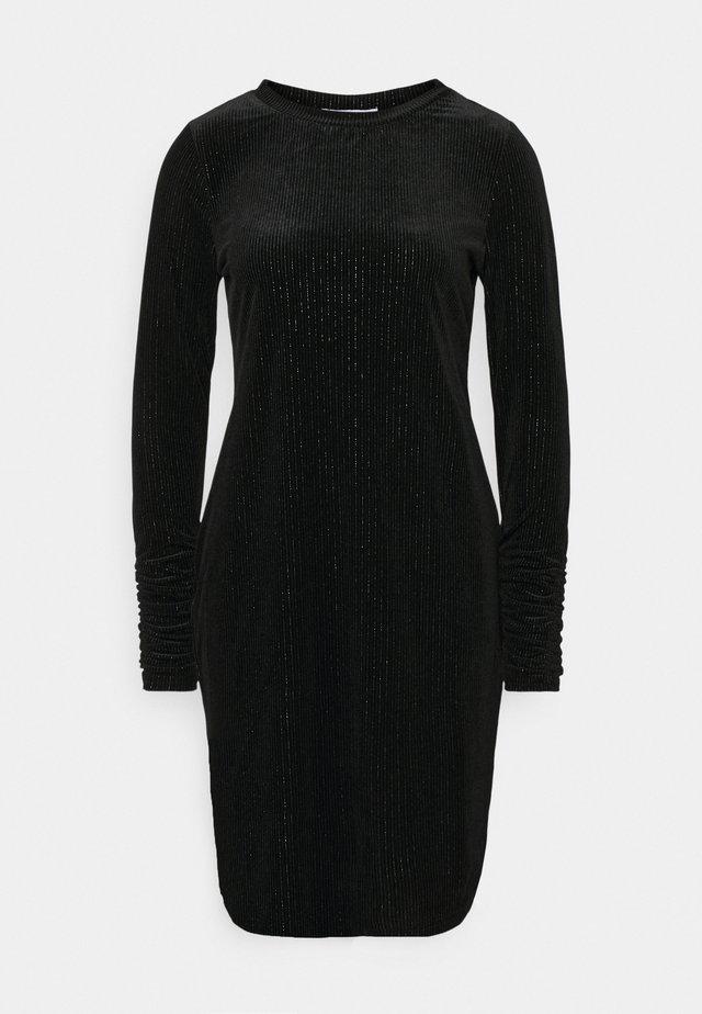 LONG SLEEVE DRESS - Etuikjole - black/silver