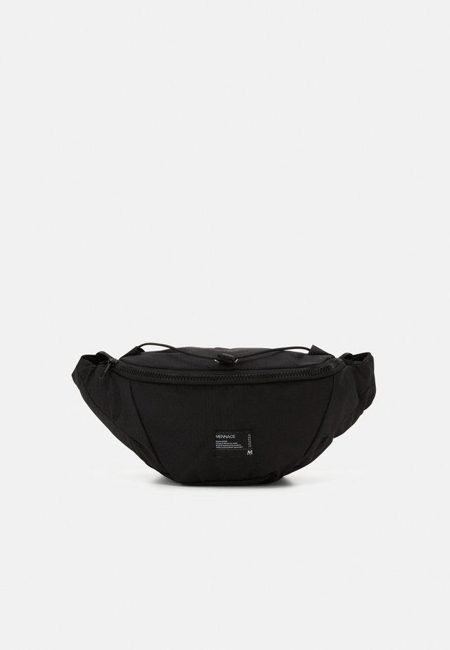 CROSSBODY BAG WITH WOVEN TAB - Marsupio - black