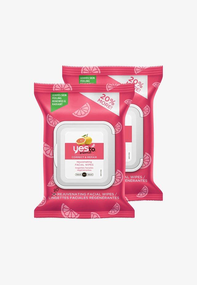 YES TO GRAPEFRUIT CORRECT & REPAIR REJUVENATING FACIAL WIPES 2 P - Detergente - -