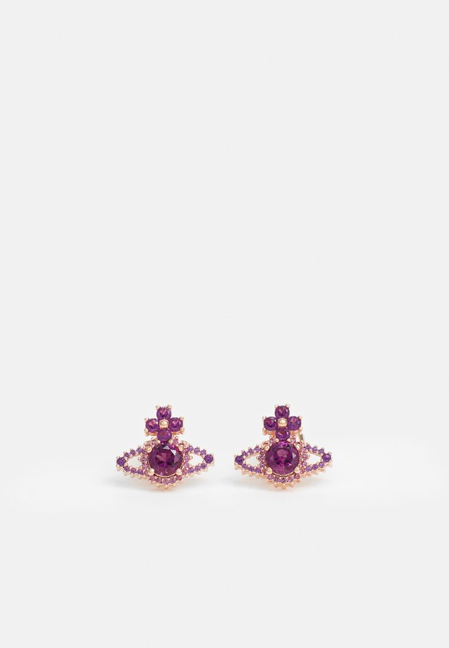 VALENTINA ORB EARRINGS - Earrings - rose gold-coloured/purple