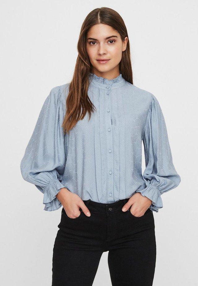 Button-down blouse - dusty blue