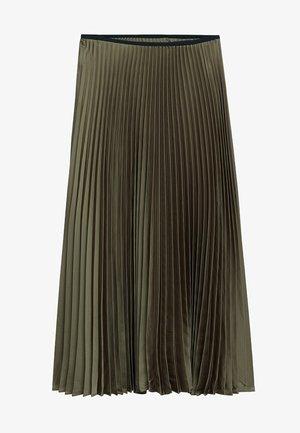 PLISADO - Pleated skirt - kaki